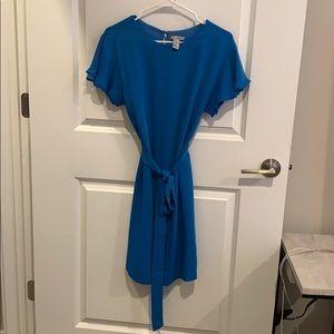 Blue mini shift dress